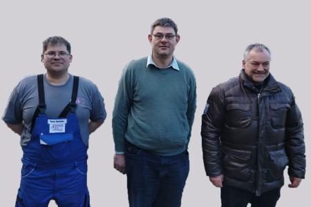Herr Oberbacher, Herr Bruckmeier, Herr Holzner